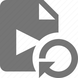 file, movie, refresh, reload, sync, video icon