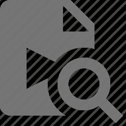 file, movie, search, video, view icon