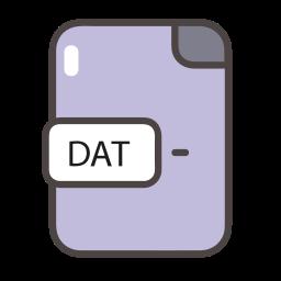 dat, dat icon, documents, file, folder icon