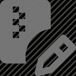 edit, file, zipped icon