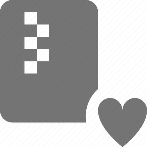 favorite, file, heart, zipped icon
