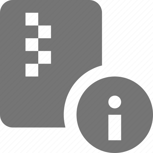 file, information, zipped icon