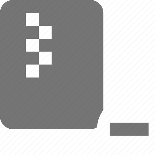 file, minimize, minus, zipped icon