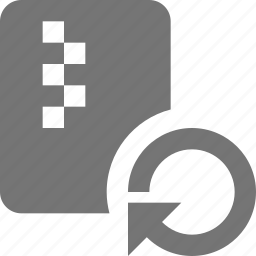 file, refresh, reload, sync, zipped icon