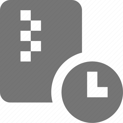 clock, file, loading, time, zipped icon