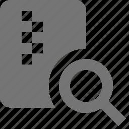 file, search, view, zipped icon