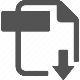 document, download, extension, file, format icon