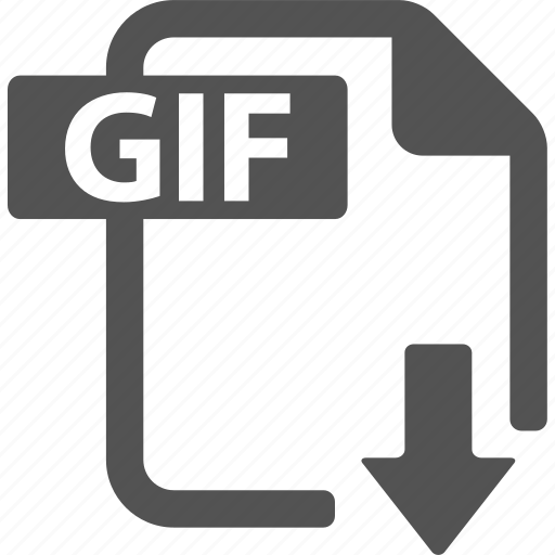 document, download, extension, file, format, gif icon