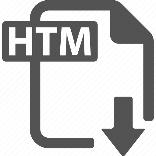 document, download, extension, file, format, htm icon