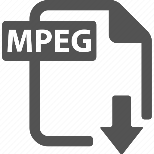document, download, extension, file, format, mpeg icon