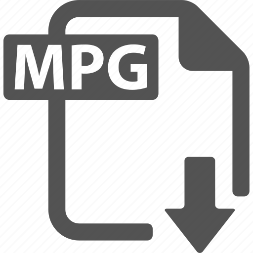 document, download, extension, file, format, mpg icon