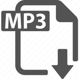 document, download, extension, file, format, mp3 icon