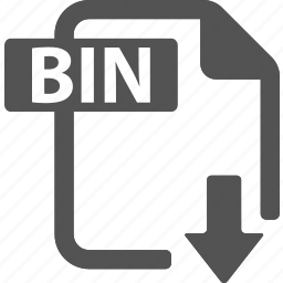 bin, document, download, extension, file, format icon