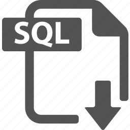 document, download, extension, file, format, sql icon