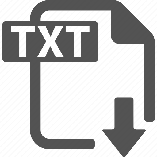 document, download, extension, file, format, txt icon