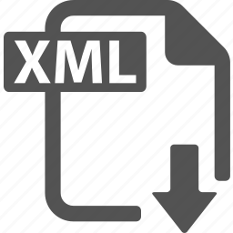 document, download, extension, file, format, xml icon