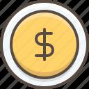 business, cash, coin, dollar, finance, money icon
