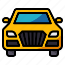 automobile, car, front, vehicle, view icon