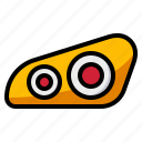 car, headlights, lighting, part icon