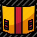 car, driving, hood, metal, racing icon