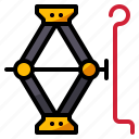 car, fix, jack, lift, repair icon