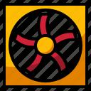 air, car, fan, part, radiator icon