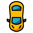 car, driving, top, vehicle, view icon