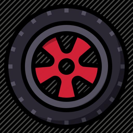 car, drive, part, tire, wheel icon