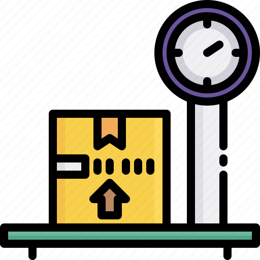 delivery, heavy, logistics, package, scale, shipping, weight icon