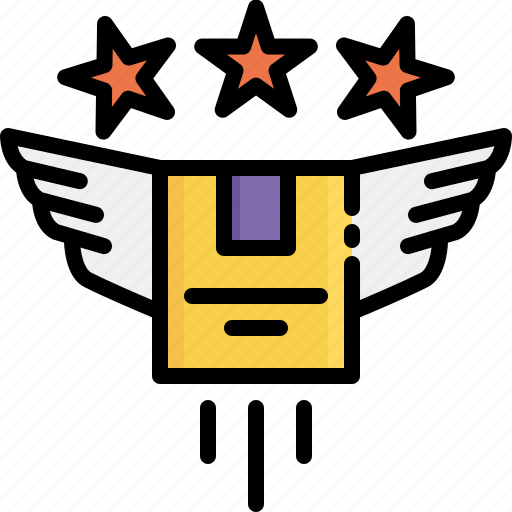 delivery, exclusive, express, fast, logistics, premium, shipping icon