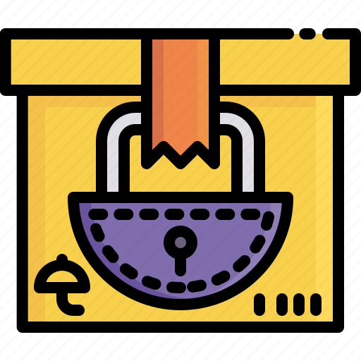 delivery, lock, logistics, protect, safety, security, shipping icon