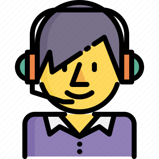 call, center, delivery, logistics, operator, shipping, support icon