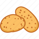 potato, potato chips, potato salad, vegetables icon icon