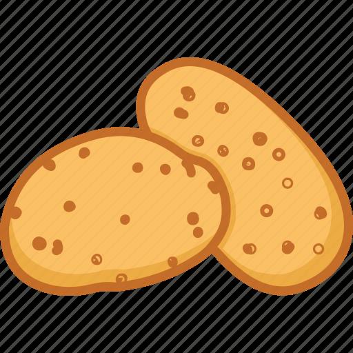 potato, potato chips, potato salad, vegetables icon icon