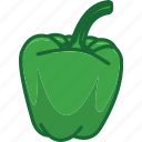 bell pepper, capsicum, vegetables icon icon