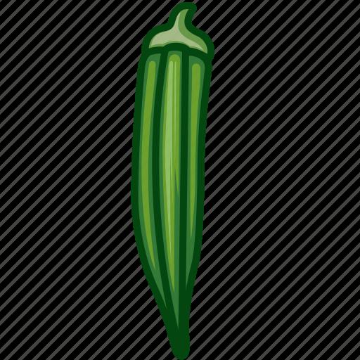 ladies finger, ochro, okra, vegetables icon icon