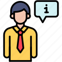 consultant, information, support icon