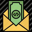 commision, envelope, money