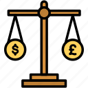 balance, currency, trade, exchange icon