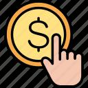click, dollar, hand, pay, per, select