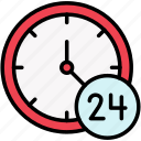 availability, day, time, whole icon