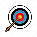 archery, arrow, equipment, sports, target icon