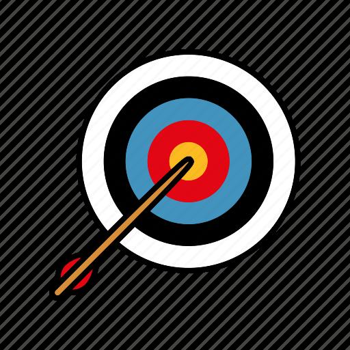 archery, arrow, equipment, sports, target icon