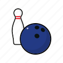 ball, bowling, equipment, pin, sports