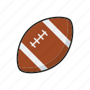 american, ball, egg, equipment, football, sports, team sports icon