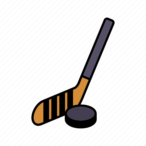 equipment, hockey stick, icehockey, puck, sports, team sports, winter sports icon