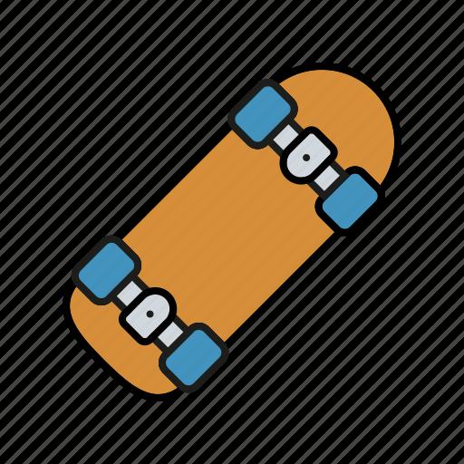 equipment, funsports, skateboard, skating, sports icon