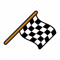 checkered, equipment, finish, flag, race, racing, sports icon