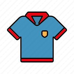 clothing, equipment, polo shirt, shirt, sports, team, team sports icon