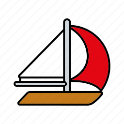 boat, equipment, sail boat, sailing, sports, water sports icon